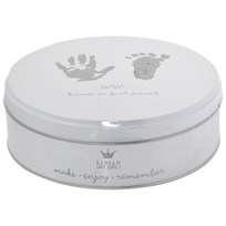 BamBam Baby's First Hand/Foot Print Box White