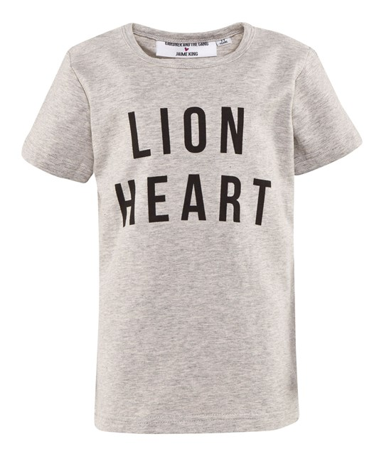 Gardner and the gang The Lion Heart Tee Cream White Creme white