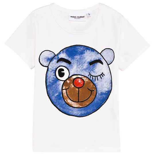 Mini Rodini Bear Short Sleeve Tee Blue Blue