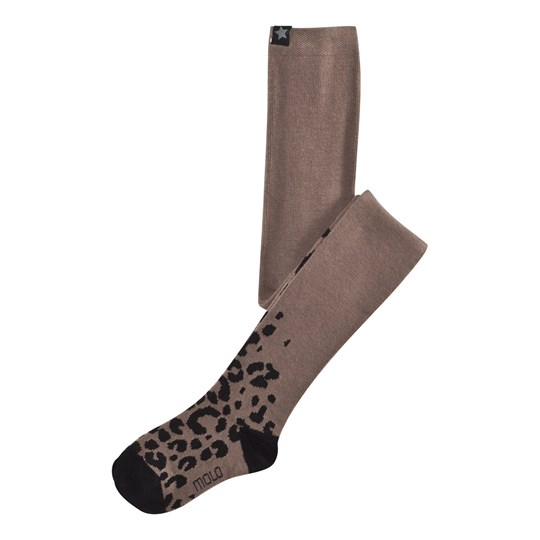 Molo Leopard Tights Deep Taupe Deep Taupe