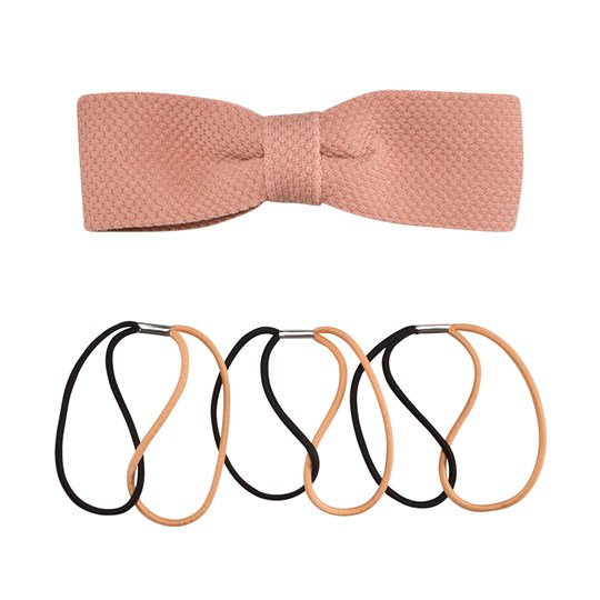 Molo Hairband and Clip Mix Coral Pink Coral Pink
