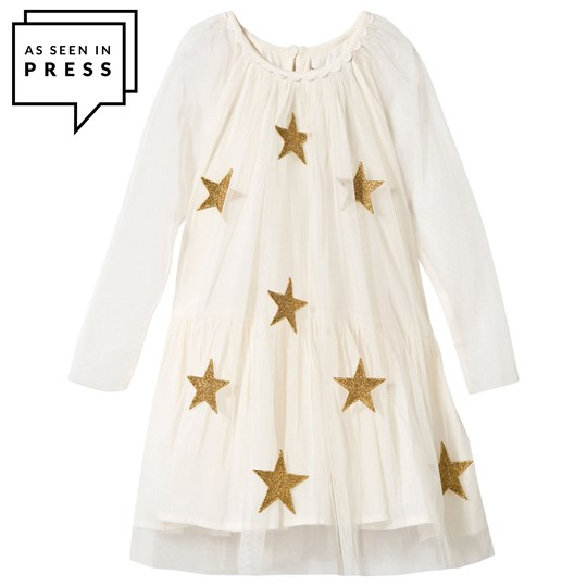 Stella McCartney Kids Misty Klänning Kräm Cream
