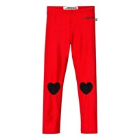 The BRAND Heart Leggings Shiny Red Red