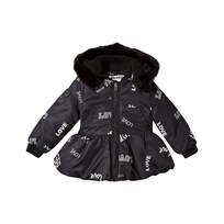 The BRAND Peplum Winter Jacket Black Love Black Love