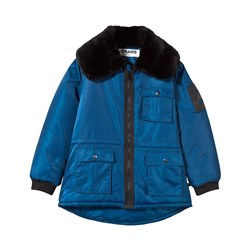 The BRAND Faux Fur Parka Blue