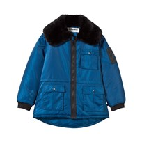 The BRAND Faux Fur Parka Blue Blue