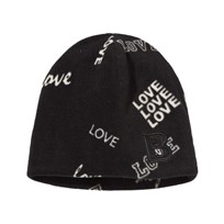 The BRAND Fleece Mössa Svart Love Black Love