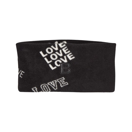 The BRAND Fleece Headband Black Love Black Love