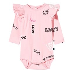 The BRAND Flounce Baby Body Pink Love