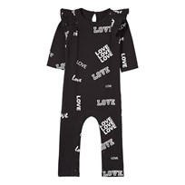 The BRAND Baby Dance Flounce One-Piece  Black Love Black Love