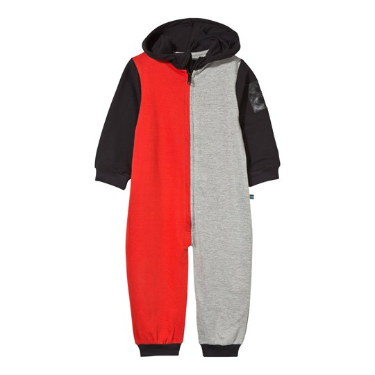The BRAND Baby Block Black Onesie Red Grey Mel Block Red/Grey Mel/Black