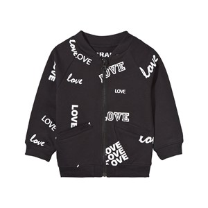 Image of The BRAND Baby Bomber Black Love 68/74 cm (2743696307)