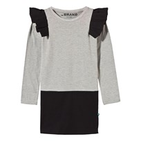The BRAND Flounce Dress Grey Black Grey Mel / Black