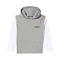 The BRAND Cut Off Hoodie Grey Mel