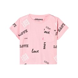 The BRAND Pocket Tee Pink Love