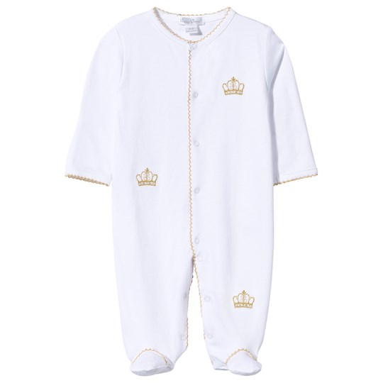 Kissy Kissy Footie Royal Baby White/Gold White/Gold