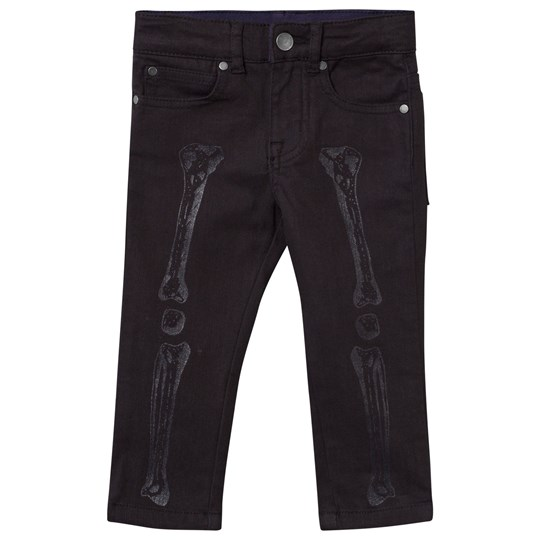 Stella McCartney Kids Pedro Pants Wash Black Bones Print Wash Black