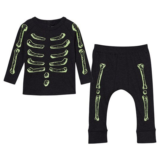 Stella McCartney Kids Max/Macy Boones Printed Tee/Pants Set Black Black Melange