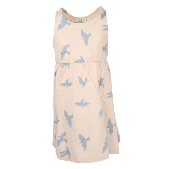 Livly Luna Dress Blue Freedom Birds бежевый