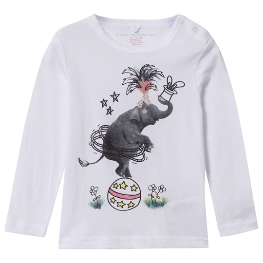 Stella McCartney Kids Georgie Tee Gohst Elephant Print Ghost