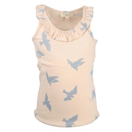 Livly Luna Tank Top Blue Birds Beige