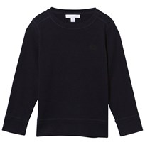 Burberry Check Elbow Patch Merino Wool Sweater Navy Navy