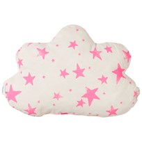 Noe & Zoe Berlin Little Cloud Pillow Neon Pink Stars & Stripes neon pink stars & stripes