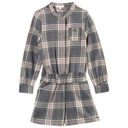 Chloé Checked Jumpsuit Ardoise Chinee