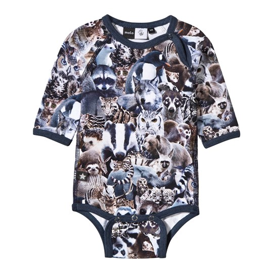 Molo Field Baby Body Animal Collage Animal Collage