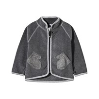 Molo Umo Fleece Jacket Mid Grey Melange Mid Grey Melange