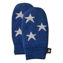 Molo Snowflake Mittens Estate Blue Estate Blue