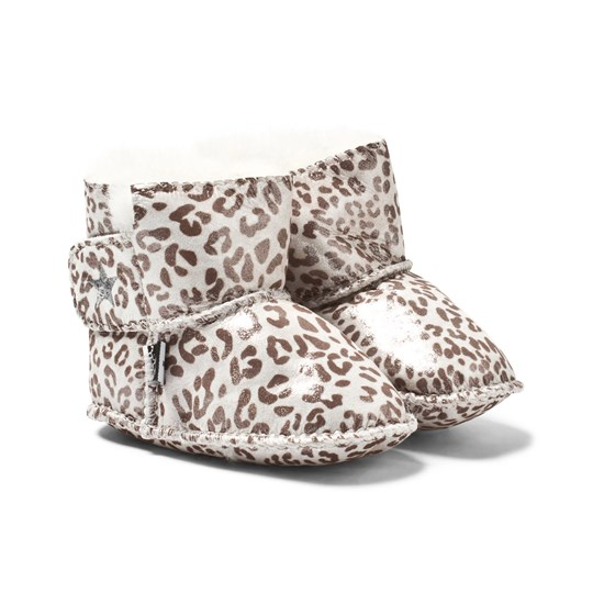 Molo Dust Baby Shoes Grey Leopard Grey Leopard
