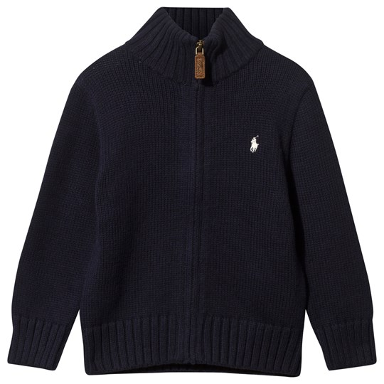 Ralph Lauren Long Sleeve Full Zip Mock Pp Hunter Navy Hunter Navy