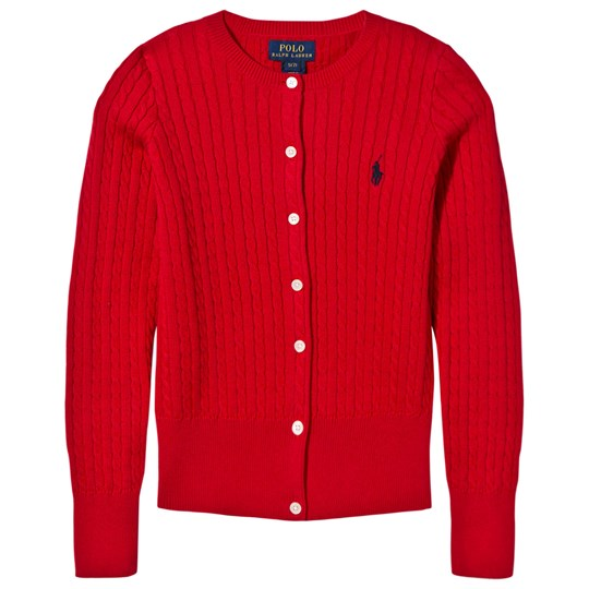 Ralph Lauren Long Sleeve Sweater Mini Cable Ultra Red Ultra Red