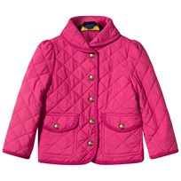 Ralph Lauren Shawl Barn Quilted Baby Jacket Currant Currant