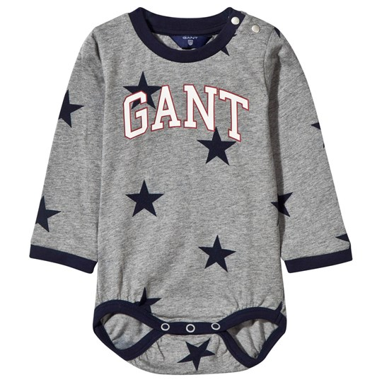 GANT O. Boy Stars Baby Body Grey Black