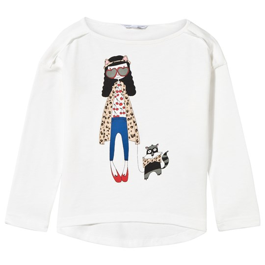Little Marc Jacobs Long Sleeve T-shirt Off White White