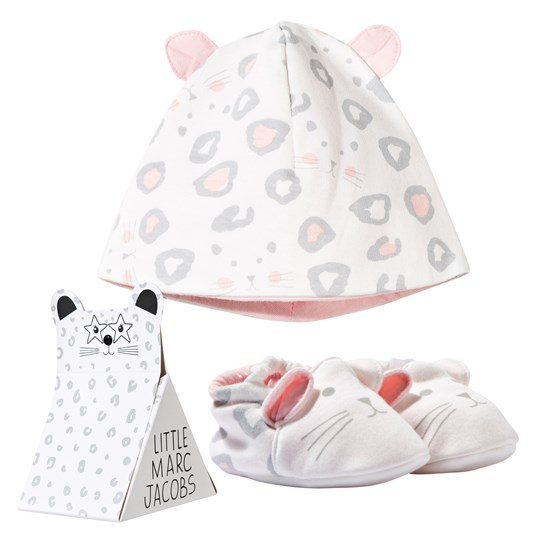 Little Marc Jacobs Hat & Baby Slippers Off White White