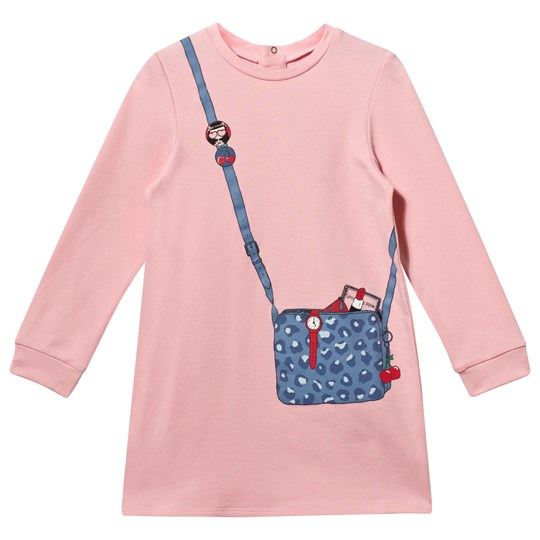 The Marc Jacobs Long Sleeve Dress With Handbag Print Rose Rose Givree