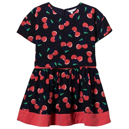 The Marc Jacobs DreShort Sleeve With Cherry Print Marine Rouge Marine Rouge