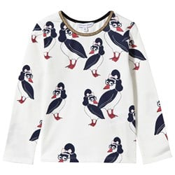 The Marc Jacobs Long Sleeve T-shirt AOP Birds Offwhite