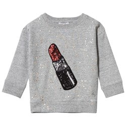 The Marc Jacobs Sparkling Sweat With Sequin Lipstick Grey