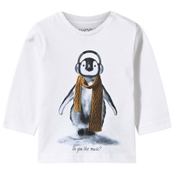 Mayoral White Tee Penguin Print