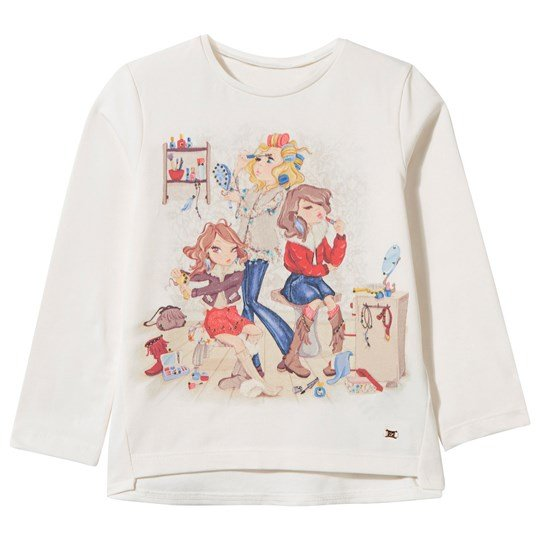 Mayoral Cream Tee 3 Girls Print Cream