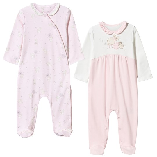 Mayoral Pack of 2 Bear and Bunny Footed Baby Body Pale Pink Pink