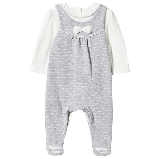 Mayoral Spot Jersey Footed Baby Body in Grey Black