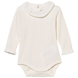 Mayoral Frill Collar Baby Body Off White