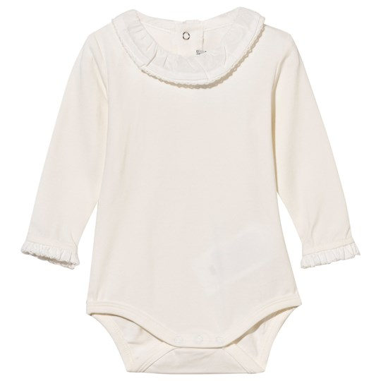 Mayoral Frill Collar Baby Body Off White Cream