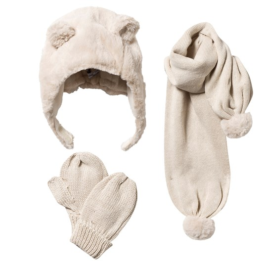 Mayoral Hat, Scarf and Mittens Set Cream