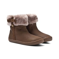 Mayoral Brown Bow Faux Fur Velcro Ankle Boots